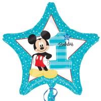 Mickey Mouse Baby Ballon Art. 34335 Disney Partydeko 1. Geburtstag