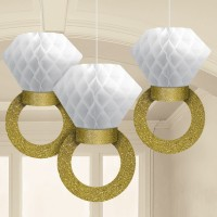 Dekoration zur Hochzeit oder für die Bridal Shower 3 Honeycomb Partydekorationen