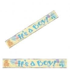 Folienbanner it´s a Boy blau Partydeko Babyparty Babyshower Geburt