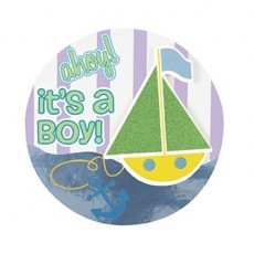 Anstecker Button its a Boy Art.61881 Partydeko Babyparty Geburt