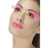 Wimpern 80er Neon Pink Art.48091 Fasching Karneval