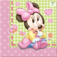 Minnie Mouse Baby Servietten