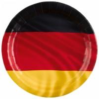 Deutschland Teller Partydeko Fussball EM WM