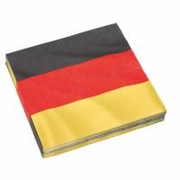 Deutschland Servietten Partydeko Fussball EM WM