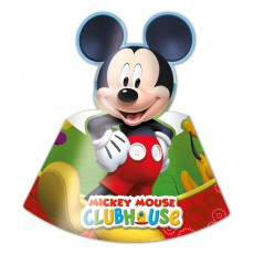 Mickey Mouse Partyhüte 6 Stück Disney Partydeko Kindergeburtstag