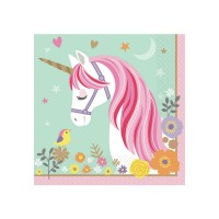 Einhorn Servietten Partydeko Geburtstag Kindergeburtstag Unicorn