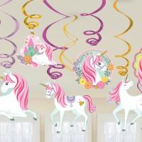 Einhorn Hängedeko 12er Partydeko Geburtstag Kindergeburtstag Unicorn