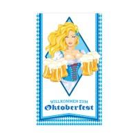 Oktoberfest Türposter Art. 61497 Partydeko Blau Weiss