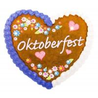 Oktoberfest LED Anstecken Button Herz Lebkuchen Partydeko