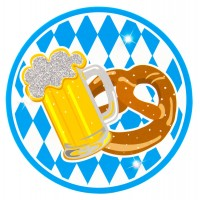 Oktoberfest LED Anstecken Button Bierkrug Partydeko