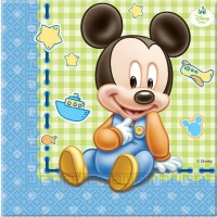 Mickey Mouse Baby Servietten