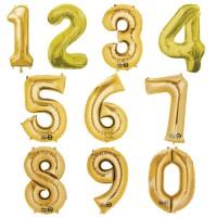 Folienballon XXL Zahl Gold