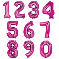 Folienballon XXL Zahl Pink