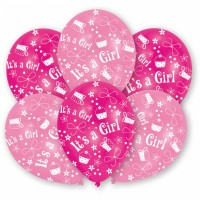 Luftballons it´s a Girl Rosa Partydeko Babyparty Babyshower Geburt Ballon