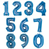 Folienballon XXL Zahl Blau
