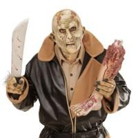 Halloween Masken 3/4 Horror Zombie Maske mit offenem Mund