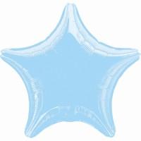 Folienballon Stern Hellblau Art.07126 Partydeko Ballon Geburtstag Hellblau