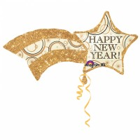 Silvester Folienballon XL Stern Happy New Year Partydeko Ballon
