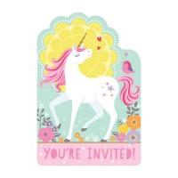 Einhorn Einladungskarten Partydeko Geburtstag Kindergeburtstag Unicorn Wunschzahl