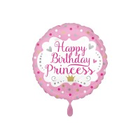 Folienballon Happy Birthday Princess Art.35664 Partydeko Ballon Geburtstag