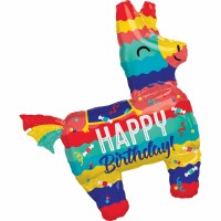 Folienballon XXL Jumbo Happy Birthday Piñata Art.37986 Partydeko Ballon