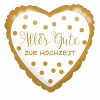 Folienballon Alles Gute zur Hochzeit Art.37713 Partydeko Ballon Just Married