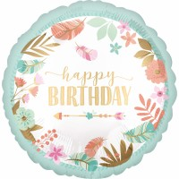 Folienballon Happy Birthday Art. 38640 Partydeko Geburtstag Ballon
