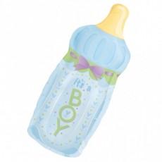 Folienballon Babyflasche Boy Partydeko Babyshower Babyparty Geburt