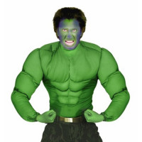 Kostüm Superhelden Grünes Superhelden Muskelhirt