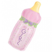 Folienballon Babyflasche Girl
