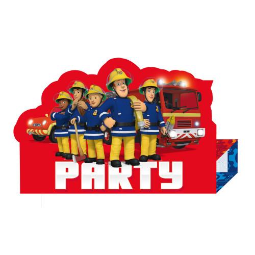 Feuerwehrmann Sam Einladungskarten Partydeko Fireman Sam Kindergeburtstag