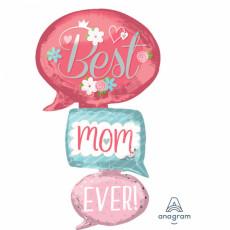 Muttertag XXL Ballon Best Mum Partydeko Ballon