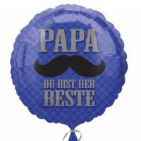 Folienballon Vatertag Papa du bist der Beste Partydeko Ballon