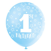 Luftballon 1. Geburtstag Blau Art. 56112 Partydeko 1. Geburtstag