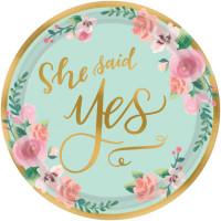 Hochzeit Teller klein Mr. & Mrs Partydeko Deko She said Yes