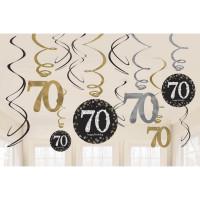 Sparkling Hängedeko Zahl 70 Happy Birthday Partydeko Geburtstag