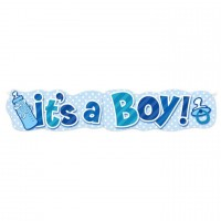 Babyshower Banner it´s a Boy Partydeko Babyparty