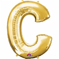 Folienballon XXL Buchstabe C Gold Partydeko Geburtstag Ballon