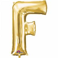 Folienballon XXL Buchstabe F Gold Partydeko Geburtstag Ballon