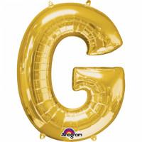 Folienballon XXL Buchstabe G Gold Partydeko Geburtstag Ballon