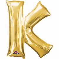 Folienballon XXL Buchstabe K Gold Partydeko Geburtstag Ballon