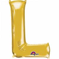 Folienballon XXL Buchstabe L Gold Partydeko Geburtstag Ballon