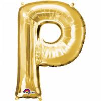 Folienballon XXL Buchstabe P Gold Partydeko Geburtstag Ballon