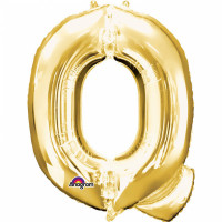 Folienballon XXL Buchstabe Q Gold Partydeko Geburtstag Ballon