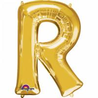 Folienballon XXL Buchstabe R Gold Partydeko Geburtstag Ballon