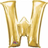 Folienballon XXL Buchstabe W Gold Partydeko Geburtstag Ballon
