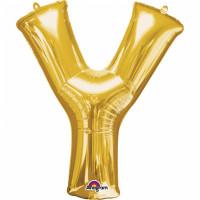 Folienballon XXL Buchstabe Y Gold Partydeko Geburtstag Ballon