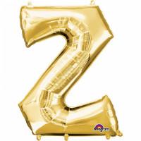 Folienballon XXL Buchstabe Z Gold Partydeko Geburtstag Ballon