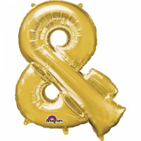 Folienballon XXL Buchstabe & Gold Partydeko Geburtstag Ballon