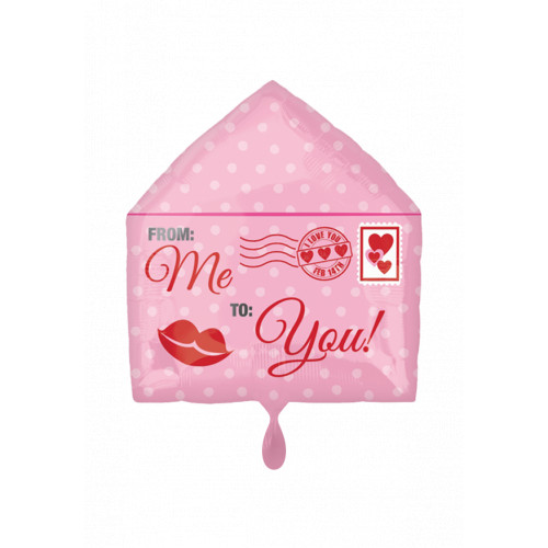 Folienballon Hochzeit Mail Art.38726 Partydeko Ballon Love